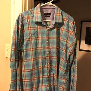 XL dress Shirt light blue plad